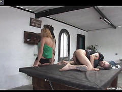 Horny shemale trying for the first time the thrills of anal sex with a guy